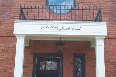 van winkle signs toronto residential address lettering