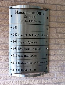 stainless-steel-directory sign
