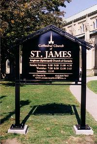 sign St. James Cathedral Church, Toronto