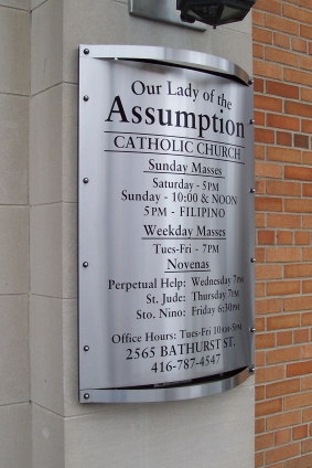 directory at Our Lady of the Assumption Church